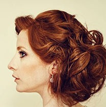 Wedding hair style model