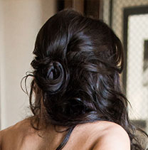 Dark hair for wedding