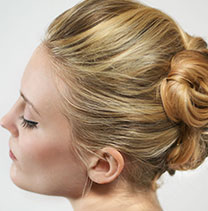 Wedding blonde hair up