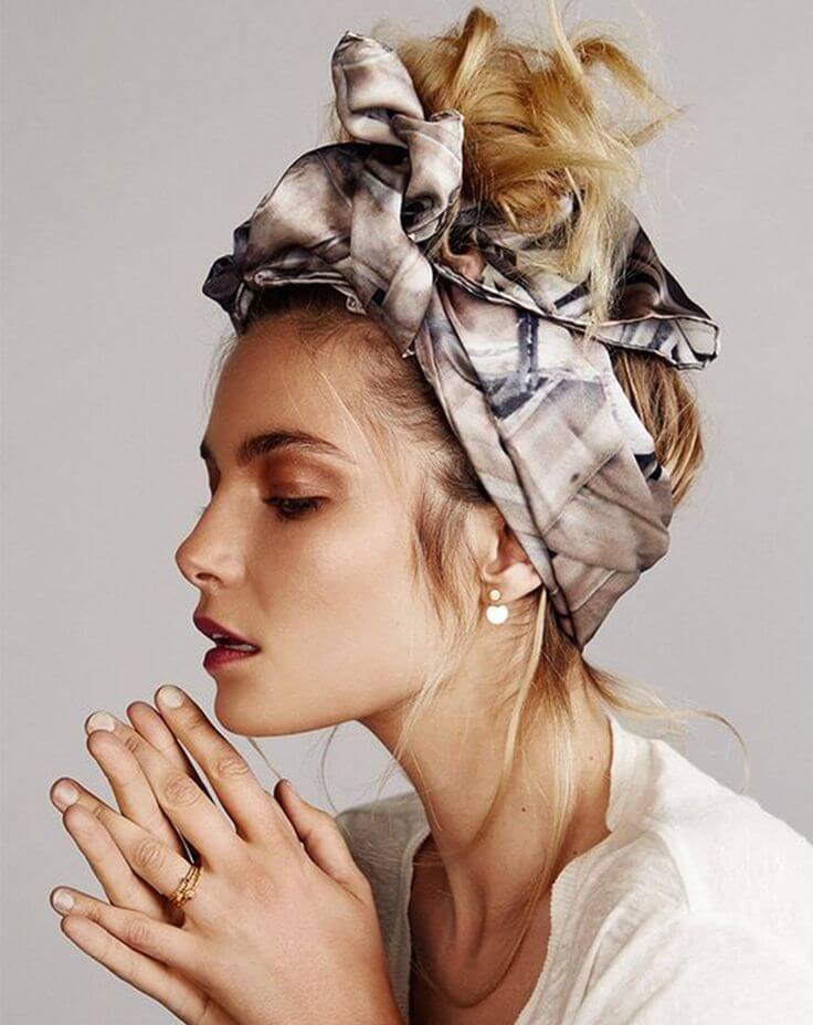 How To Wear It The Hair Scarf Trend Fabio Scalia Hair Salon
